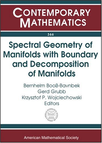 Spectral Geometry of Manifolds with Boundary and: Amer Mathematical Society