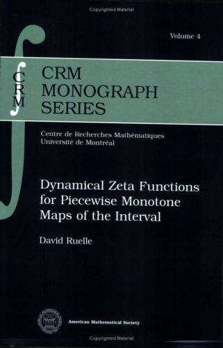 9780821836019: Dynamical Zeta Functions for Piecewise Monotone Maps of the Interval (CRM Monograph Series)
