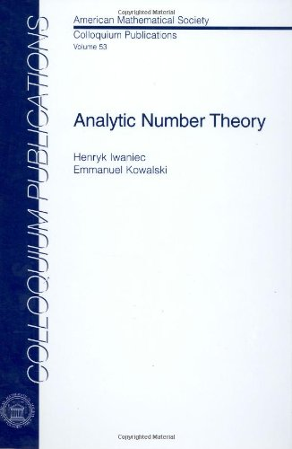9780821836330: Analytic Number Theory (Colloquium Publications, Vol. 53) (Colloquium Publications (Amer Mathematical Soc))
