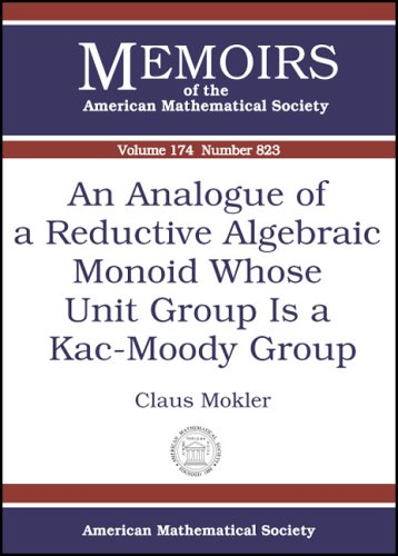 An Analogue Of A Reductive Algebraic Monoid Whose Unit Group Is A Kac-moody Group (Memoirs of the ...
