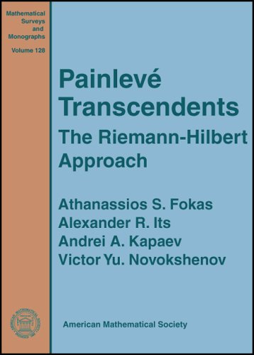 9780821836514: Painleve Transcendents: The Riemann-Hilbert Approach