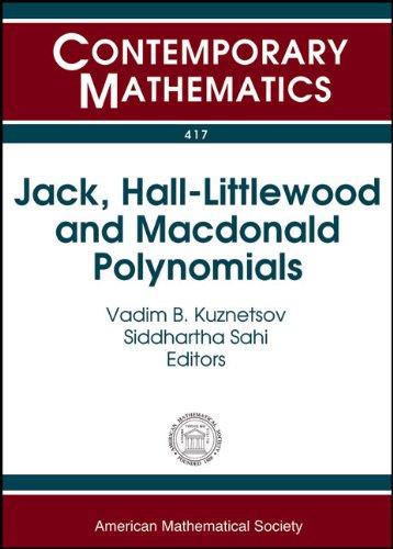 9780821836835: Jack, Hall-littlewood and Macdonald Polynomials (Contemporary Mathematics)