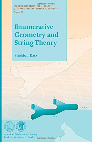 9780821836873: Enumerative Geometry and String Theory (Student Mathematical Library)