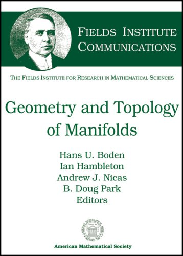 9780821837245: Geometry and Topology of Manifolds (Fields Institute Communications)