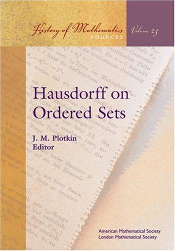 9780821837887: Hausdorff on Ordered Sets