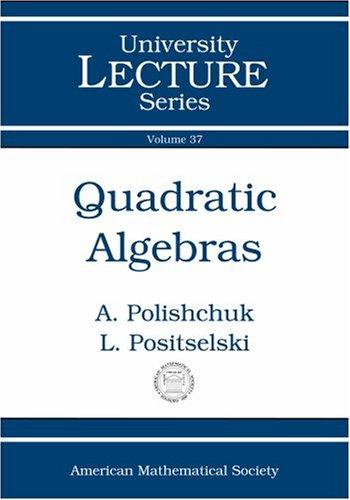 9780821838341: Quadratic Algebras (University Lecture Series)