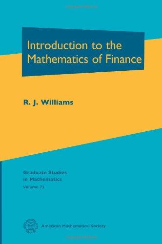 9780821839034: Introduction to the Mathematics of Finance (Graduate Studies in Mathematics, Vol. 72)