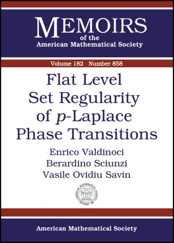 9780821839102: Flat Level Set Regularity of P-laplace Phase Transitions (Memoirs of the American Mathematical Society)