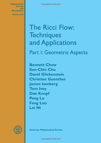 9780821839461: The Ricci Flow: Techniques and Applications: Geometric Aspects (Mathematical Surveys and Monographs) (Pt. 1)