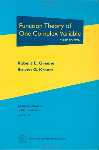 9780821839621: Function Theory of One Complex Variable: Third Edition (Graduate Studies in Mathematics)