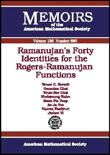 Ramanujan's Forty Identities for the Rogers-ramanujan Functions: Berndt, Bruce C.,