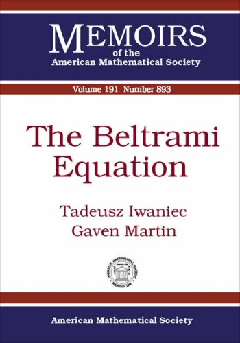 9780821840450: The Beltrami Equation (Memoirs of the American Mathematical Society)