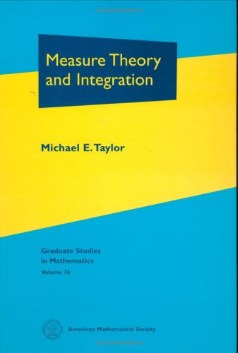 9780821841808: Measure Theory and Integration (Graduate Studies in Mathematics)