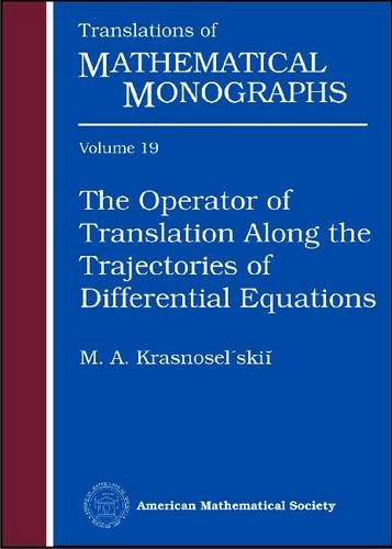 9780821842904: The Operator of Translation Along the Trajectories of Differential Equations (Translations of Mathematical Monographs)