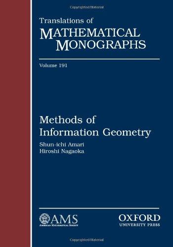 9780821843024: Methods of Information Geometry (Translations of Mathematical Monographs) (Translations of Mathematical Monographs Series (Sep.Title P)