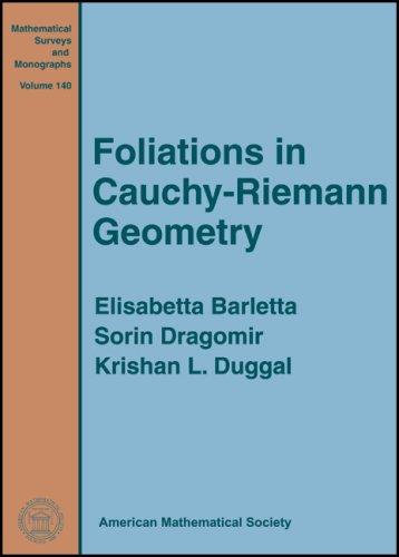 9780821843048: Foliations in Cauchy-Riemann Geometry