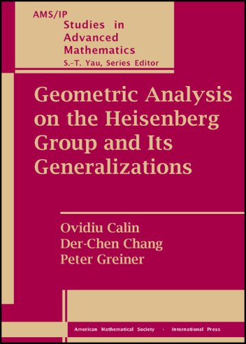 9780821843192: Geometric Analysis on the Heisenberg Group and Its Generalizations (AMS/IP Studies in Advanced Mathematics)