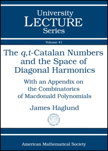 9780821844113: The $q,t$-Catalan Numbers and the Space of Diagonal Harmonics (University Lecture Series)