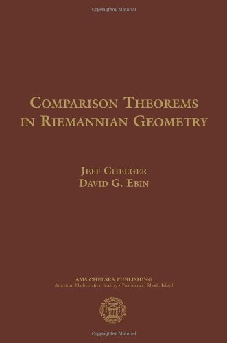 9780821844175: Comparison Theorems in Riemannian Geometry (Ams Chelsea Publishing)