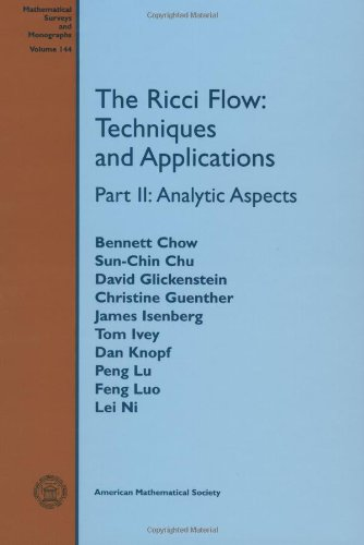 9780821844298: The Ricci Flow: Techniques and Applications (Mathematical Surveys and Monographs) (Part II)