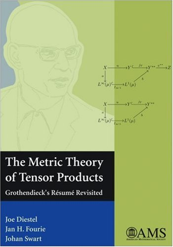 9780821844403: The Metric Theory of Tensor Products: Grothendieck's Resume Revisited (amsns AMS non-series title)