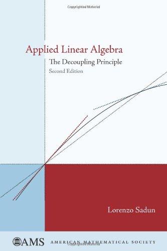 9780821844410: Applied Linear Algebra (amsns AMS non-series title)