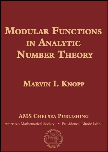 9780821844885: Modular Functions in Analytic Number Theory (AMS Chelsea Publishing)
