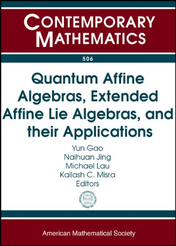 9780821845073: Quantum Affine Algebras, Extended Affine Lie Algebras, and Their Applications: Quantum Affine Algebras, Extended Affine Lie Algebras, and Applications ... Banff, Canada (Contemporary Mathematics)