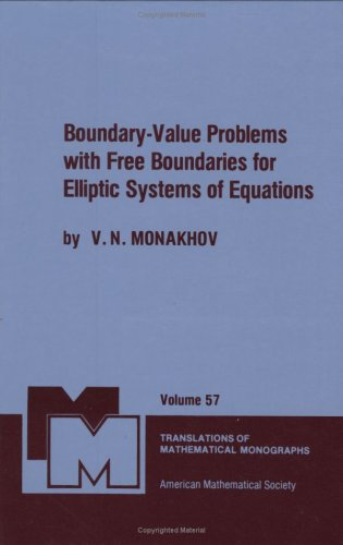 9780821845103: Boundary-Value Problems with Free Boundaries for Elliptic Systems of Equations (Translations of Mathematical Monographs)