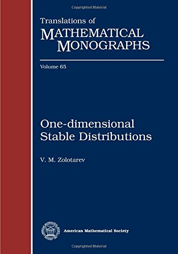 9780821845196: One-Dimensional Stable Distributions (Translations of Mathematical Monographs)