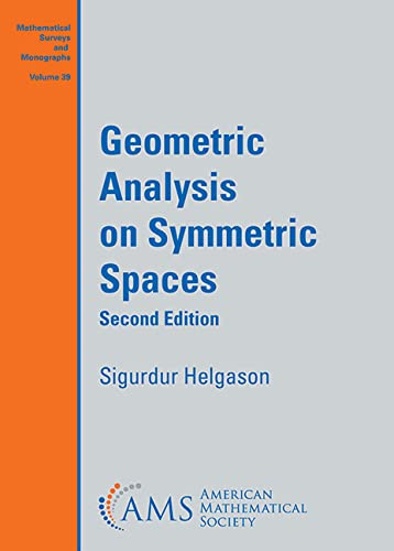 9780821845301: Geometric Analysis on Symmetric Spaces (Mathematical Surveys and Monographs)