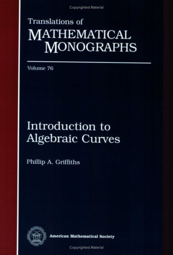 9780821845370: Introduction to Algebraic Curves (Translations of Mathematical Monographs Reprint)