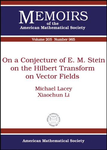 9780821845400: On a Conjecture of E. M. Stein on the Hilbert Transform on Vector Fields (Memoirs of the American Mathematical Society)