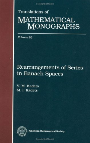 9780821845462: Rearrangements of Series in Banach Spaces (Translations of Mathematical Monographs)