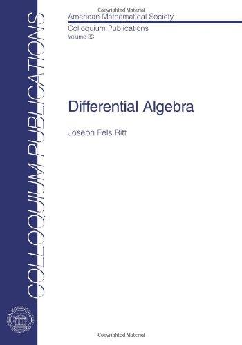 9780821846384: Differential Algebra (Colloquium Publications)