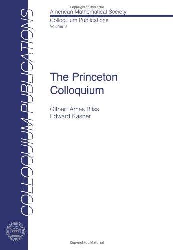 9780821846414: The Princeton Colloquium (American Mathematical Society Colloquium Publications)