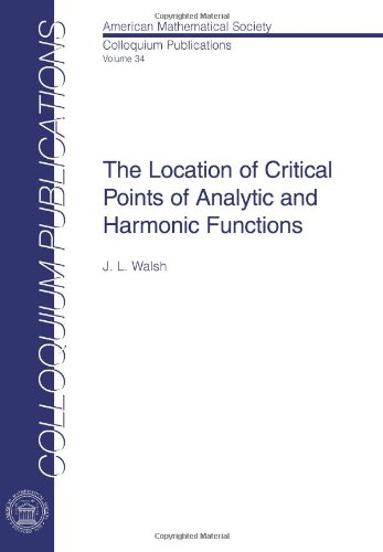9780821846438: The Location of Critical Points of Analytic and Harmonic Functions (Colloquium Publications)