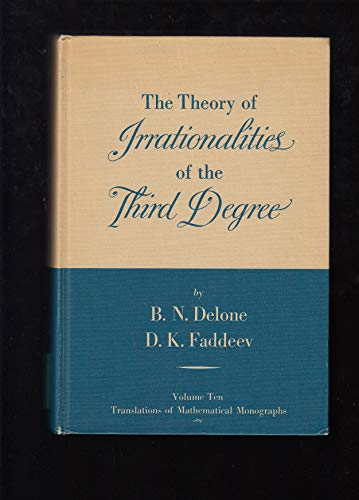 9780821846452: The Theory of Irrationalities of the Third Degree (Translations of Mathematical Monographs)