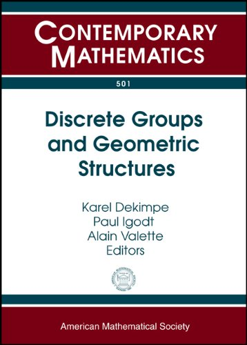 Discrete Groups and Geometric Structures: Workshop on: Amer Mathematical Society