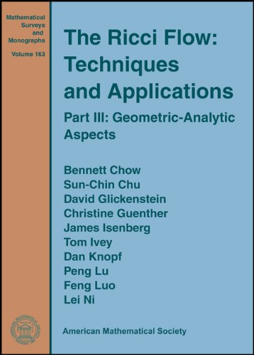9780821846612: The Ricci Flow: Techniques and Applications (Mathematical Surveys and Monographs)