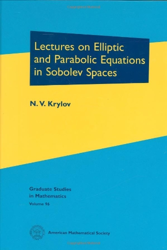 9780821846841: Lectures on Elliptic and Parabolic Equations in Sobolev Spaces
