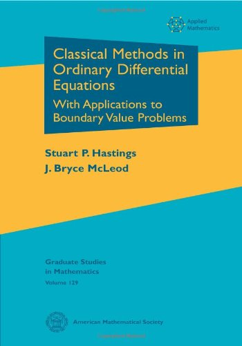 9780821846940: Classical Methods in Ordinary Differential Equations: With Applications to Boundary Value Problems (Graduate Studies in Mathematics)