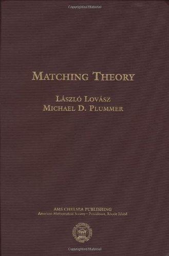 9780821847596: Matching Theory (AMS Chelsea Publishing)