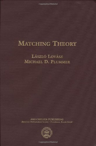 9780821847596: Matching Theory (AMS Chelsea Publishing)