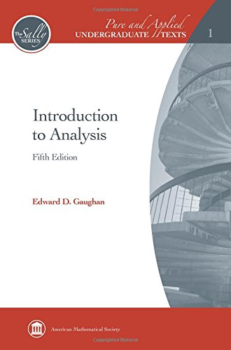 9780821847879: Introduction to Analysis (Pure and Applied Undergraduate Texts)