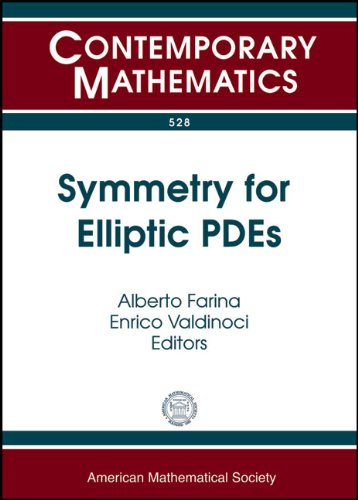 9780821848043: Symmetry for Elliptic PDEs: (30 Years After a Conjecture of De Giorgi, and Related Problems) May 25-29, 2009 Indam School Rome, Italy