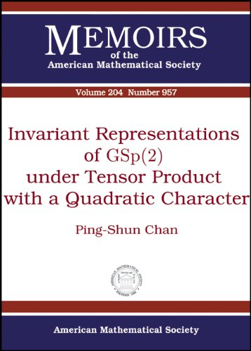 9780821848227: Invariant Representations of Gsp2 Under Tensor Product With a Quadratic Character (Memoirs of the American Mathematical Society)