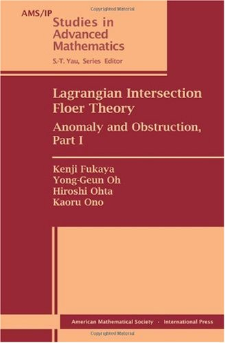 9780821848364: Lagrangian Intersection Floer Theory (AMS?IP Studies in Advanced Mathematics)