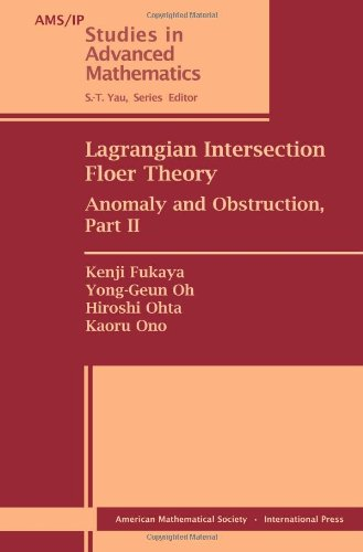 9780821848371: Lagrangian Intersection Floer Theory: Anomaly and Obstruction, Part II (AMS/IP Studies in Advanced Mathematics, Vol. 46)