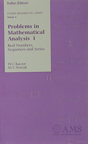 9780821848548: Problems in Mathematical Analysis I: Real Numbers, Sequences and Series